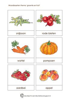 Page 1 of 6 Restaurant Themes, Pizza Restaurant, Learn Dutch, Dutch Language, School Themes, School Ideas, Fruits And Vegetables, Preschool Activities, Bon Appetit