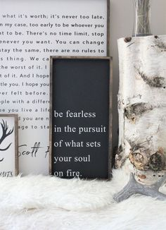 Rustic wall Stencil - Be Fearless in The Pursuit of What Sets Your Soul on Fire Wood Sign Farmhouse Style Framed Wood Wall Art Modern Rustic Wall Decor. Rustic Walls, Rustic Wall Decor, Rustic Signs, Wood Signs, Diy Signs, Studio Apartments, Fixer Upper, Modern Rustic Bedrooms, Rustic Modern