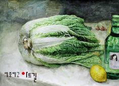 아트길 Seeds, Stuffed Mushrooms, Watercolor, Fruit, Vegetables, Drawings, Plants, Painting, Colour