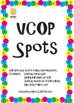 Coloured VCOP spots to use in the classroom. Teaching Resources, Sunshine, Classroom, Color, Class Room, Sunlight, Colour, Learning Resources, Colors