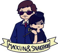 Burt Macklin and Janet Snakehole by FuwaFuwaYUI.deviantart.com on @DeviantArt