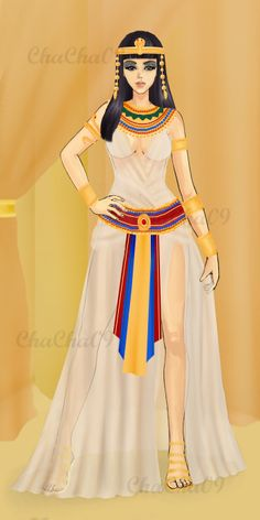 for everyday life)) Ancient Egyptian Costume, Ancient Egypt Art, Egyptian Art, Ancient Greece Fashion, Egyptian Fashion, Greece Outfit, Country Dresses, Fashion Figures, Princesas Disney