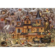 Trick or Treat Hotel Jigsaw Puzzle, 500 pcs - Herrschners