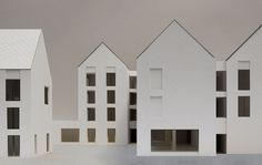 Housing & social centre, Aarschot by DRDH Brick Architecture, Classical Architecture, Residential Architecture, Architecture Models, Social Housing, Uk Housing, Architects London, Arch House, 3d Modelle