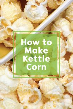 Sweeten up your life with this easy, at-home Kettle Corn. This quick snack is fun to make and amazingly simple. Enjoy it during family movie nights or as a snack after school or anytime you're on the go!