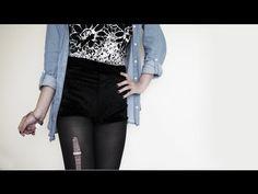 DIY ✂ Velvet High Waisted Hot Pants / Shorts