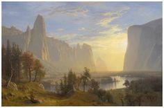 """Yosemite Valley,"" Albert Bierstadt, 1868, oil on canvas, 36 x 54"", Oakland Museum of California."