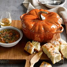 Staub Cast-Iron Pumpkin Cocotte | Williams-Sonoma...This is beautiful AND functional! LOVE!