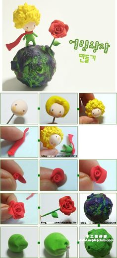"The Little Prince (""Le Petit Prince"" by Antoine de Saint-Exupéry) - Free Fimo or Polymer Clay Tutorial"