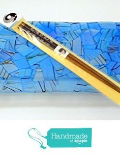 New Turquoise Blue Fused Glass Sushi Plate or Candle Holder, Black Metal Stand and Chopsticks Food Safe from Glass Creations by Marcia https://www.amazon.com/dp/B01GIU66GW/ref=hnd_sw_r_pi_dp_yya8xbS0RXP4M #handmadeatamazon