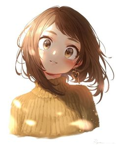 personajes de anime My hero academia Ochako art,ve - anime My Hero Academia Memes, Hero Academia Characters, My Hero Academia Manga, Buko No Hero Academia, Anime Art Girl, Manga Girl, Anime Girls, Manga Kawaii, Chica Anime Manga