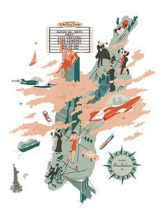 Walker Tower (NY). Ilustración © Vesa Sammalisto. Ilustraciones del folleto, 2012. Encargo por Pandiscio Co.