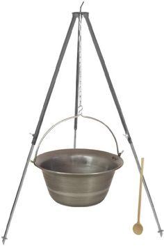 Ein 30 Liter Eisen Gulaschkessel mit Dreiben.