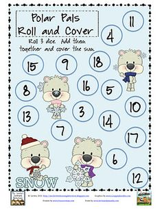 Classroom Freebies Too: Polar Pals Adding 3 Numbers