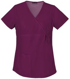 This top features an adjustable drawstring so you can resize the shirt as the baby grows. Color featured here: wine.