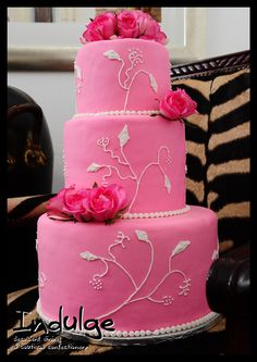 Pink wedding, but I could use the idea for Kate's birthday...