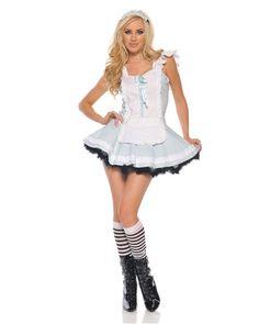 Womens Sexy Alluring Alice In Wonderland Costume,$28.96