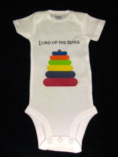 Because my husband and it's aunt are total nerds...this will happen someday...  Onesie - Lord of the Rings on Etsy, $16.50