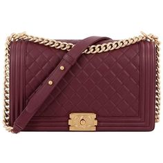 bf990d2b56bf Preowned Chanel Boy Flap Bag Quilted Calfskin New Medium ( 4