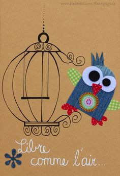 Libre comme l air Jean Crafts, Denim Crafts, Diy And Crafts, Crafts For Kids, Artisanats Denim, Denim Art, Fabric Crafts, Paper Crafts, Art N Craft