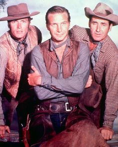 Picture of Clint Eastwood  as Rowdy Yates , Eric Fleming  as Gil Favor   from Rawhide   High Quality Photo  C26730