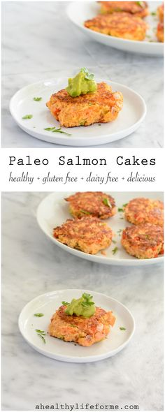 Paleo Salmon Cakes are so the perfect healthy weeknight dinner. This recipe is a simple and delicious, gluten free, dairy free, and paleo   ahealthylifeforme.com