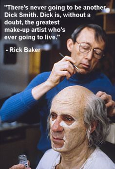 Dick Smith Legend of Makeup Art Here working on the movie Amadeus. Prosthetic Makeup, Sfx Makeup, Costume Makeup, Makeup Art, Special Makeup, Special Effects Makeup, Face Off Syfy, Horror Make-up, Old Age Makeup