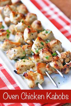Tasty chicken kabobs