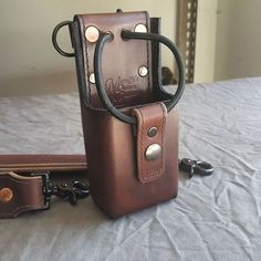 radio strap pen holder - Google Search Bottle Holders, Pen Holders, Firefighter Tools, Radios, Leather Belt Pouch, Fire Department, Fire Dept, Leather Carving, Dopp Kit