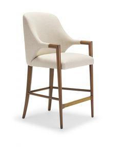The Harris Bench is part of the Summer 2016 Collection design by Elisa Carlucci. Harris' Scandinavian inspired exposed wood legs integrate naturally with handles and cushion base. Joinery and nailheads create beautiful design details. High Back Bar Stools, Modern Bar Stools, High Stool, Bar Chairs, Dining Chairs, Bar Tables, Breakfast Bar Stools, Upholstered Bar Stools, Counter Stools