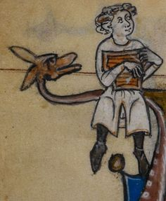 Detail from medieval manuscript, British Library Stowe MS 17 'The Maastricht Hours', f144v