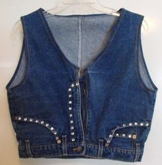 Let's see if my mom can teach me how to make this ! - Upcycled Denim Jeans Vest