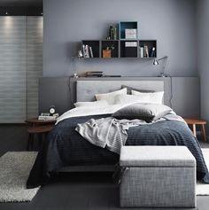 Lieblich Wandfarbe Grau   Wohnen Und Einrichten Mit Der Trendfarbe : Die Farbe Grau  Im Schlafzimmer