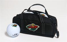Minnesota Wild Mini Hockey Bag with Golf Balls by Hockey Stick Putter.  Buy it @ ReadyGolf.com
