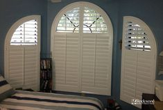 Plantation Shutters - Arch Window Shutters - Traditional - houston - by Rockwood Shutters, Blinds and Shades