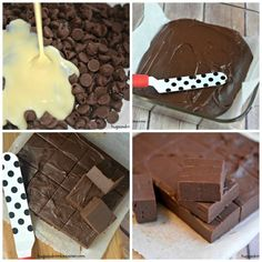 Instant Chocolate Fudge Going to make with sugar free chips and homemade sugar free sweetened condensed milk. Fudge Recipes, Candy Recipes, Dessert Recipes, Dessert Ideas, Holiday Recipes, Holiday Ideas, Just Desserts, Delicious Desserts, 2 Ingredient Fudge