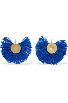 Katerina Makriyianni | Hand Fan gold-tone wool earrings | NET-A-PORTER.COM