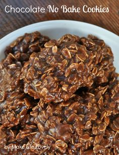 Make Life Lovely: Chocolate No Bake Cookies