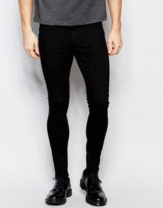 Cheap+Monday+Mid+Spray+Jeans+in+Black