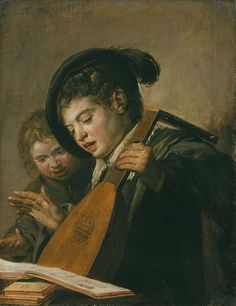 Two singing boys with a lute and a music book, Oil on canvas, 76 x 52 cm Artist Frans Hals Year 1625 Catalogue Seymour Slive, Catalog Medium Oil on canvas Dimensions 76 cm × 52 cm in × 20 in) Location Museum Schloss Wilhelmshöhe, Kassel Baroque Painting, Baroque Art, Johannes Vermeer, Canvas Art For Sale, Canvas Art Prints, Rembrandt, List Of Paintings, Dutch Golden Age, Ouvrages D'art