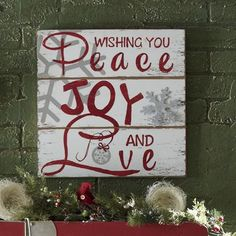 Christmas Wishes Plaque