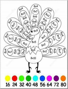 Are you looking for a fun way to teach and practice multiplication? Are you looking for a fun way to teach and practice multiplication? Are your students finding it hard to learn their Math Coloring Worksheets, Kids Math Worksheets, Math Games, Math Activities, Camping Activities, Math Multiplication, Math Math, Third Grade Math, Homeschool Math