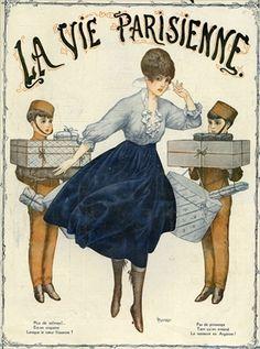Front cover of 'La Vie Parisienne', 1916 / colour lithograph / Cheri Herouard