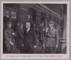 1928 -- CANFRANC M DOUMERGUE T LE ROI D ESPAGNE EN GARE 3H774 | Collections, Lettres, vieux papiers, Vieux papiers | eBay!