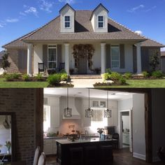 Architectural Designs 3 Bed Acadian House Plan 56379SM client-built in Louisiana. 2,100+ square feet plus a bonus room over the garage. More photos online.   Ready when you are. Where do YOU want to build?