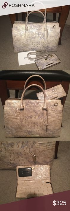 Brahmin Finley Topaz NWT Finley Topaz comes with wallet not sold separate . Dust bag and registration card included . No wear or tear or scratches Brahmin Bags Shoulder Bags