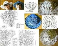 m Crochet Summer Hats, Crochet Kids Hats, Crochet Books, Knitted Hats, Crochet Doily Patterns, Crochet Diagram, Crochet Doilies, Crochet Stitches, Crochet Hooded Scarf