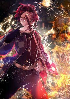 Anime: Demon Slayer Kimetsu No Yaiba <Don't forget to support the artist> Manga Anime, Anime Demon, Otaku Anime, Manga Art, Fan Art Anime, Anime Love, Anime Guys, Demon Slayer, Slayer Anime