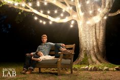 How to Get Amazing Nighttime Engagement Photos Photo courtesy of Brown Lab Photography.