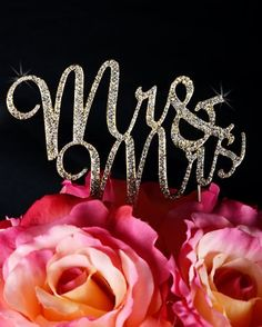 Unik Occasions Mr and Mrs Crystal Rhinestone Cake Topper, Gold *** Hurry! Check out this great product : Decorating Tools